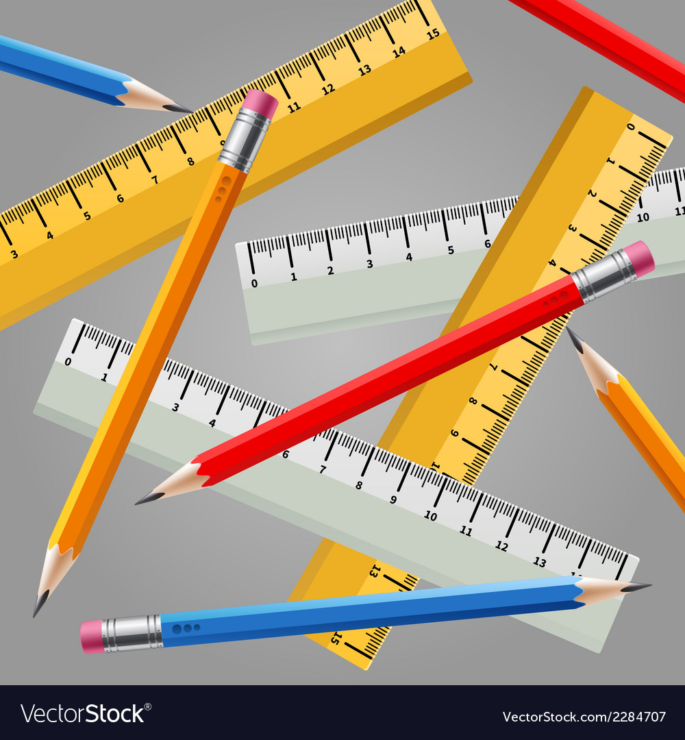 Ruler and pencil set vector | Price: 1 Credit (USD $1)