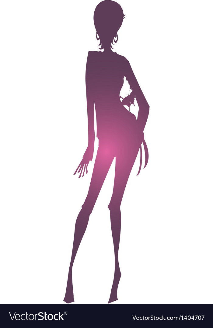 Shadows of woman vector
