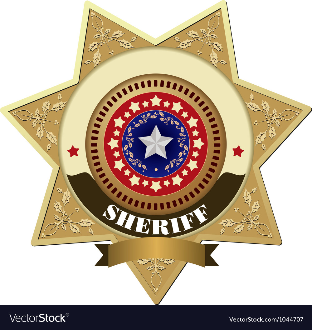 Sheriff badges vector | Price: 1 Credit (USD $1)