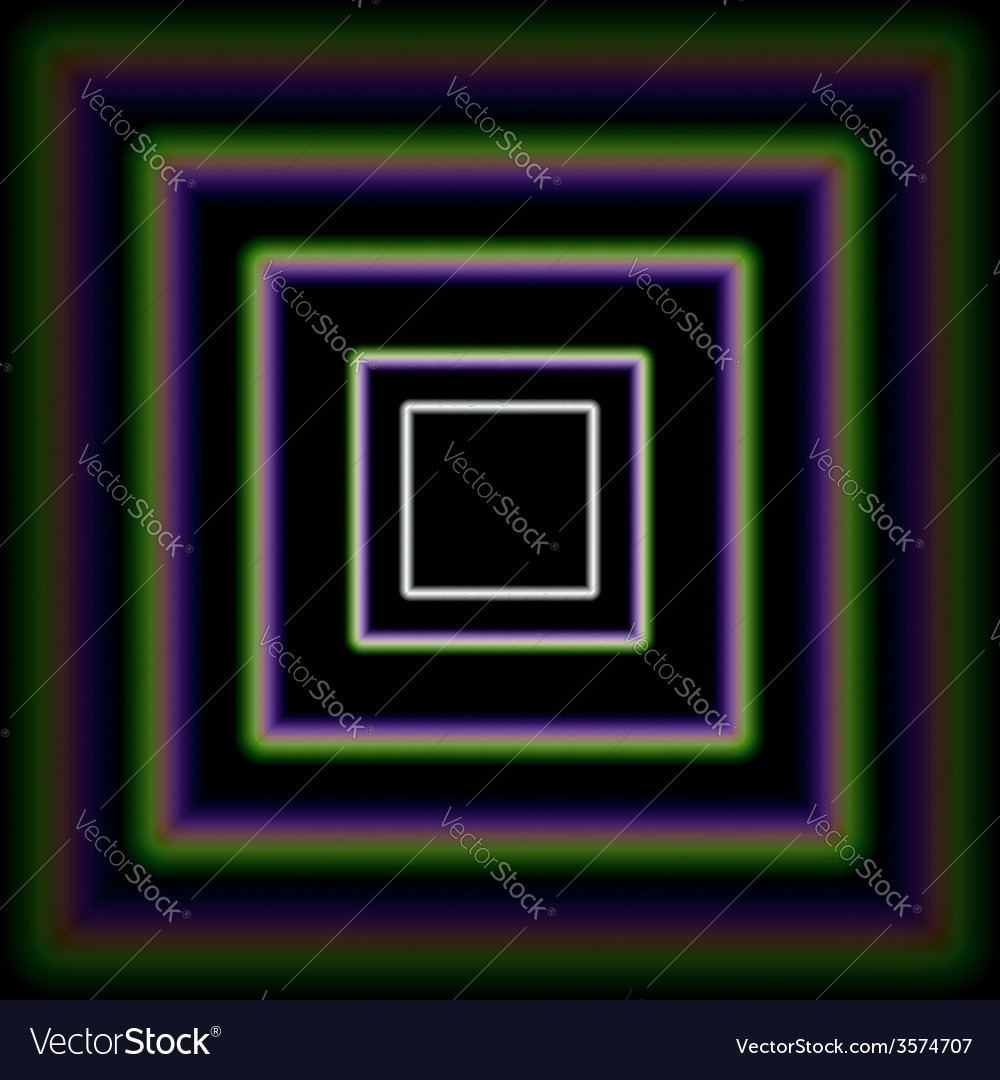 Shiny concentric squares corridor vector | Price: 1 Credit (USD $1)