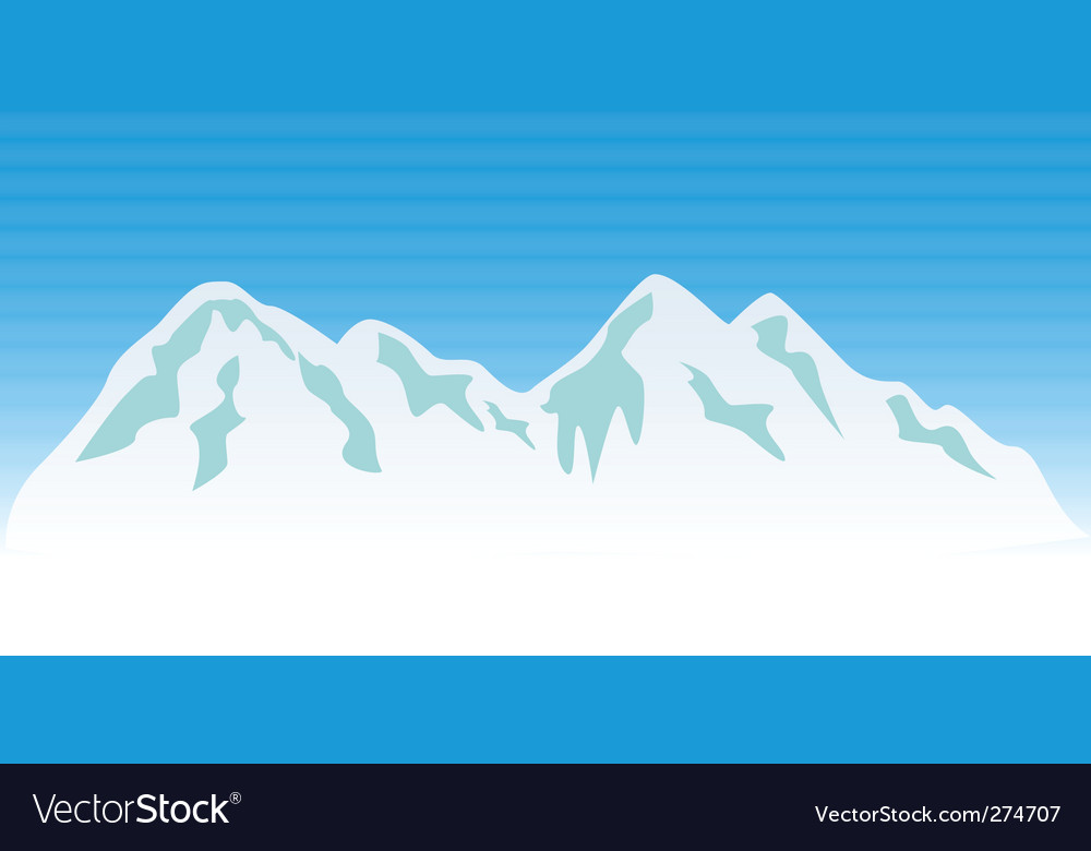 Snowy mountains vector | Price: 1 Credit (USD $1)