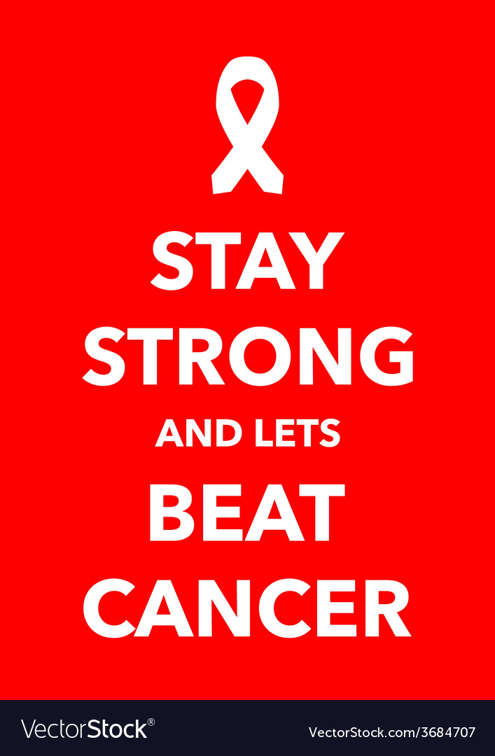 Stay strong cancer poster vector | Price: 1 Credit (USD $1)