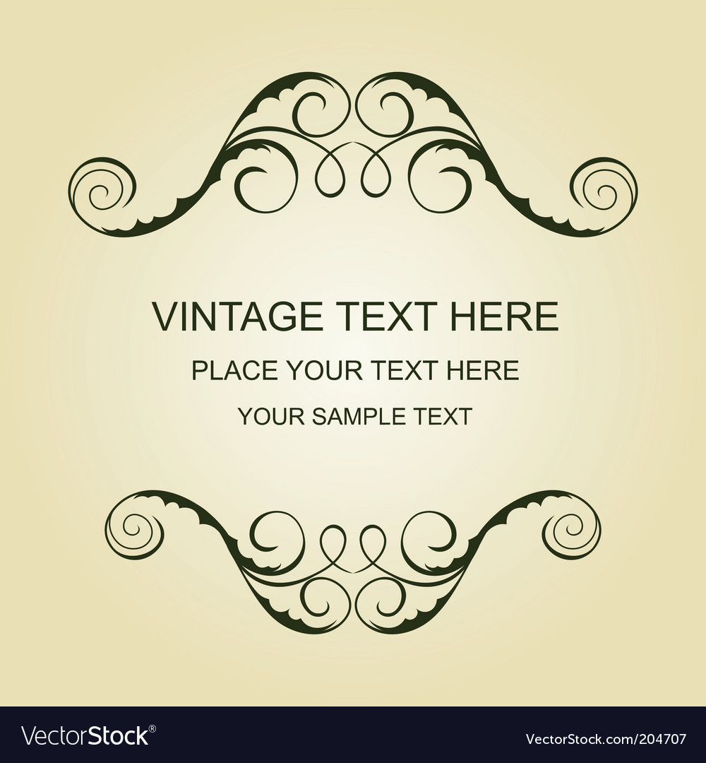 Vintage template vector | Price: 1 Credit (USD $1)