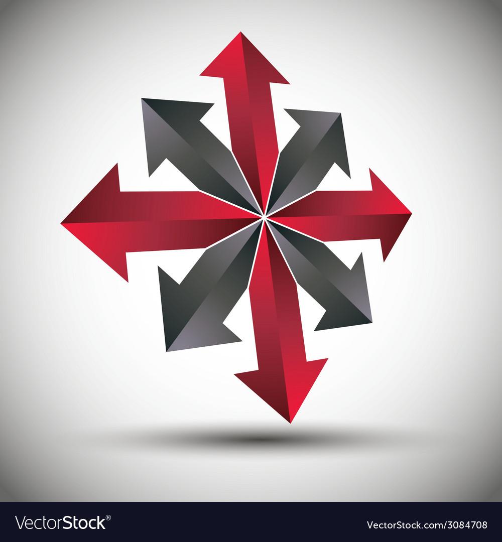 Arrows 3d icon vector   Price: 1 Credit (USD $1)