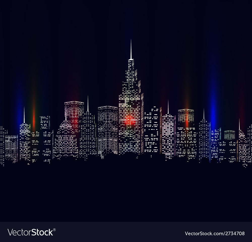 City colourful vector | Price: 1 Credit (USD $1)