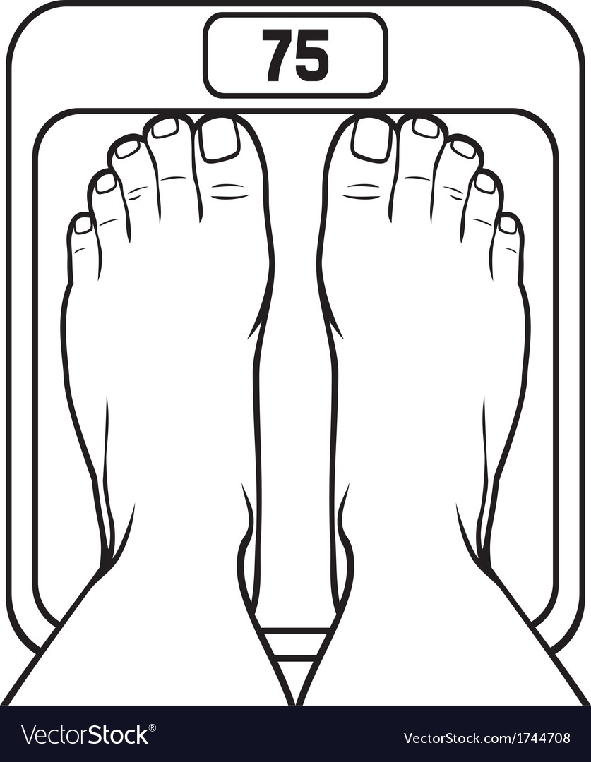 Feet on the scale vector | Price: 1 Credit (USD $1)