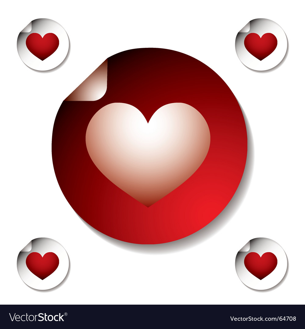 Heart sticker vector | Price: 1 Credit (USD $1)