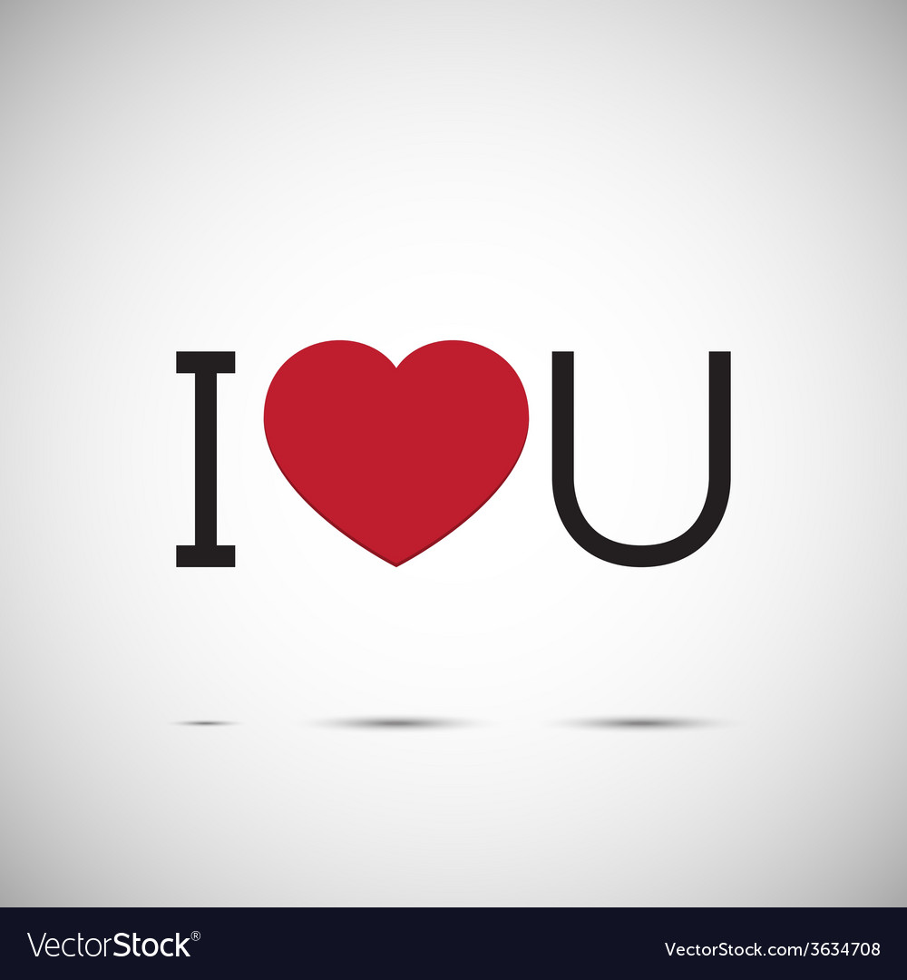 I love you heart design vector | Price: 1 Credit (USD $1)