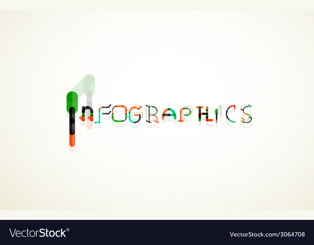 Infographics word font concept vector | Price: 1 Credit (USD $1)