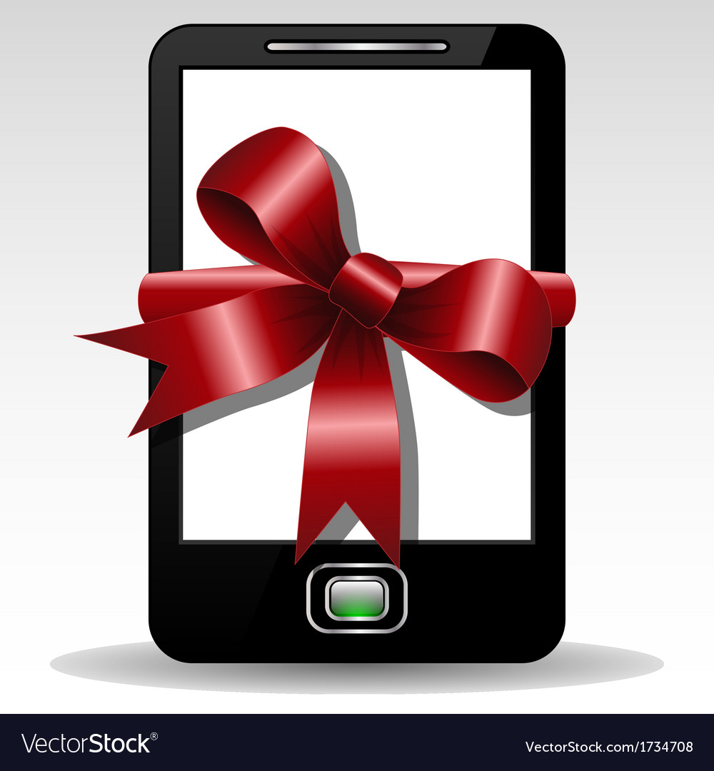 Mobile gift vector | Price: 1 Credit (USD $1)