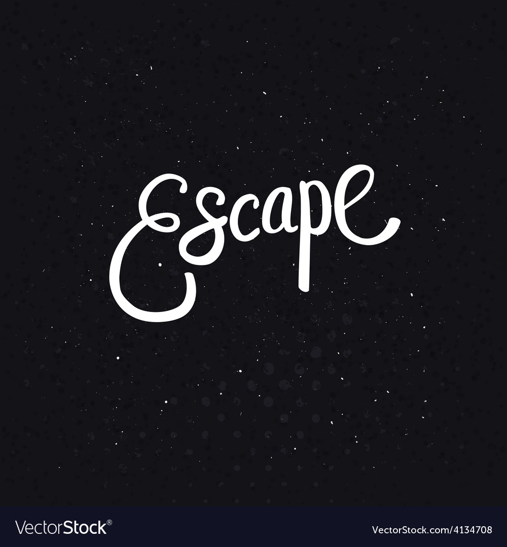 White escape text on dotted black background vector | Price: 1 Credit (USD $1)