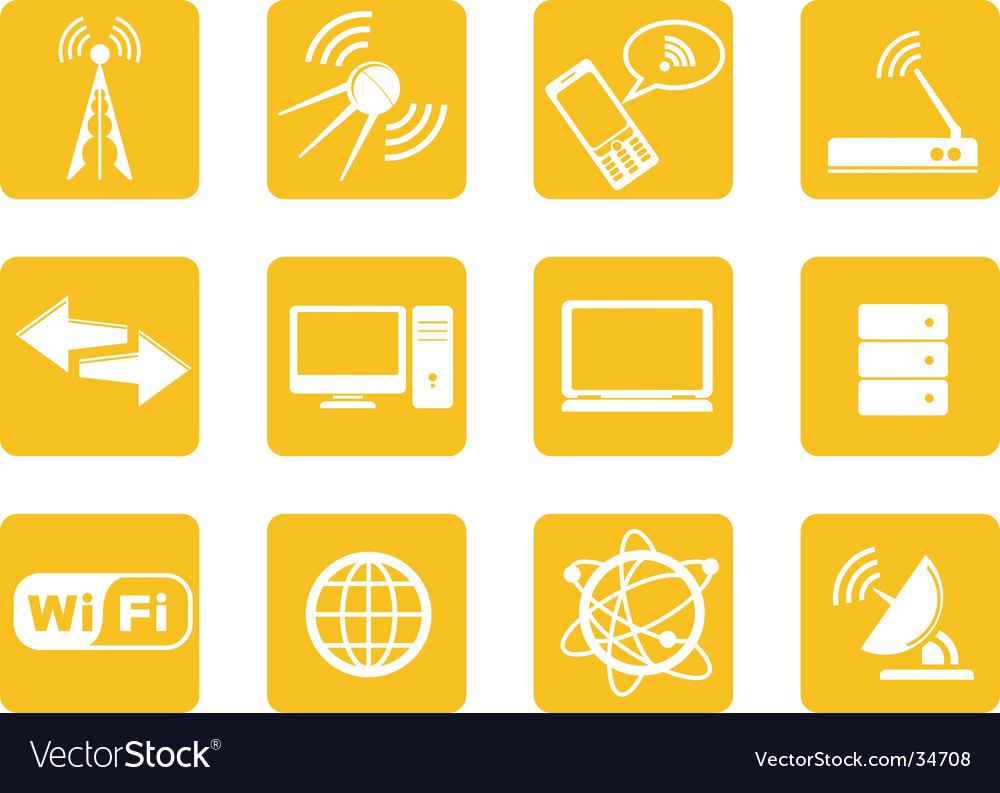 Wireless technology icons vector | Price: 1 Credit (USD $1)