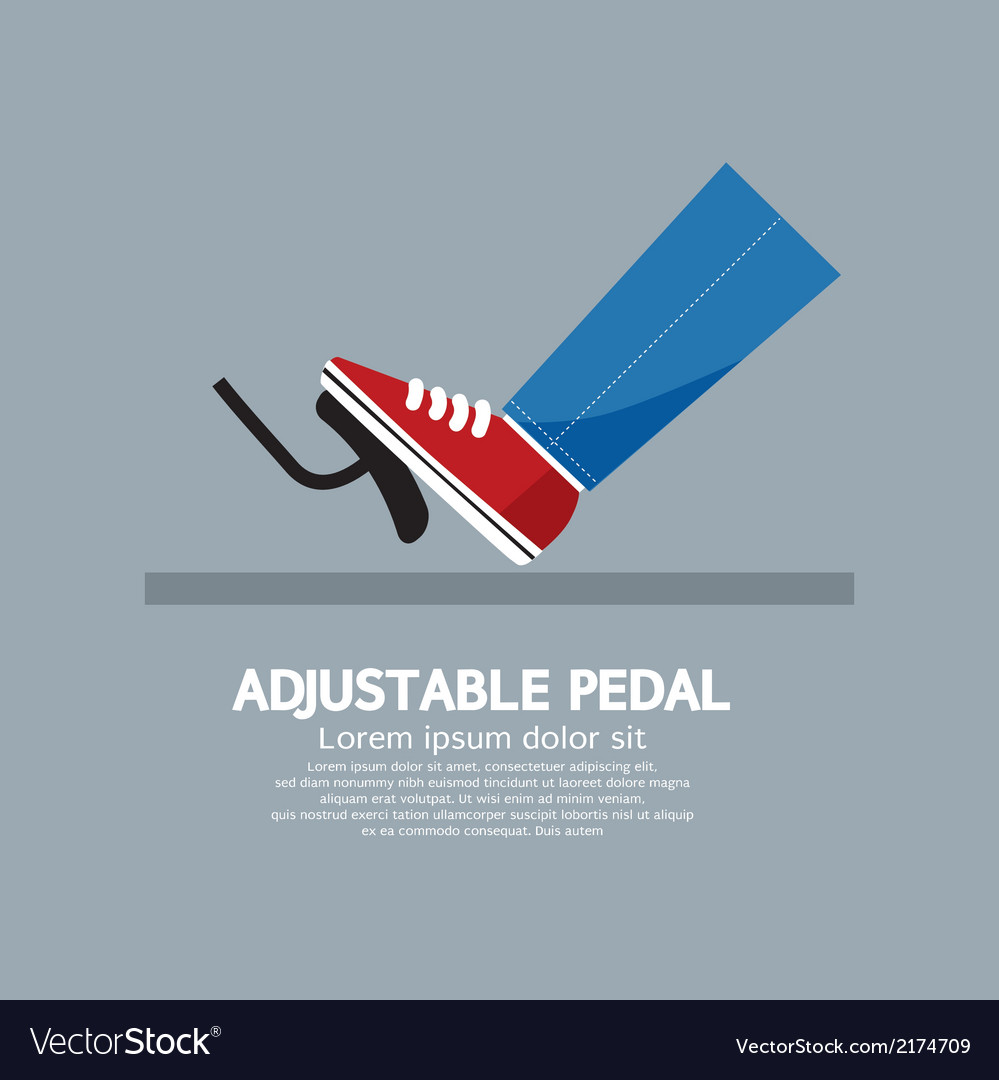 Adjustable pedal vector | Price: 1 Credit (USD $1)