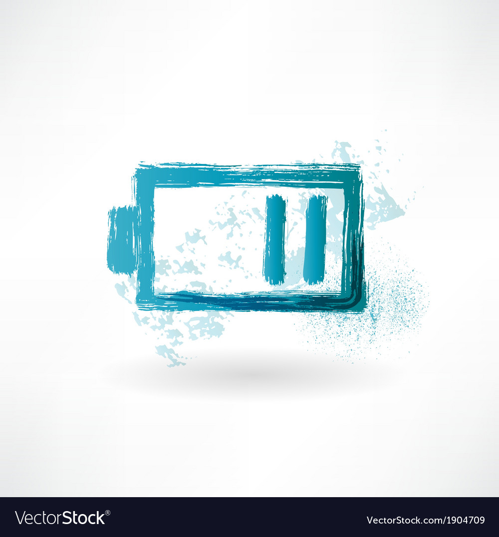 The battery is discharged brush icon vector | Price: 1 Credit (USD $1)