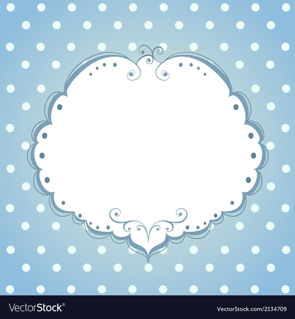 Card with frame and polka dot background vector | Price: 1 Credit (USD $1)
