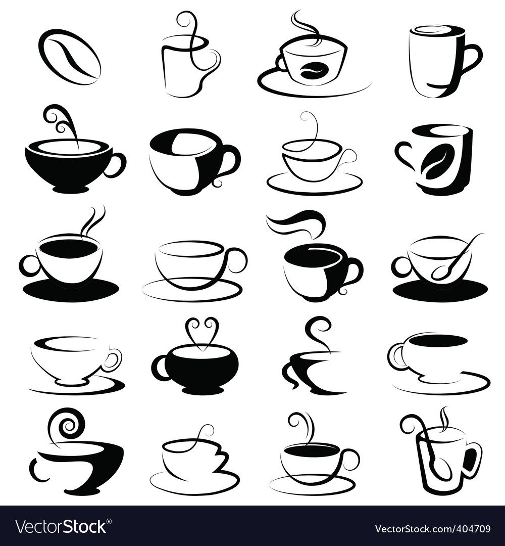 Coffee and tea design vector | Price: 1 Credit (USD $1)