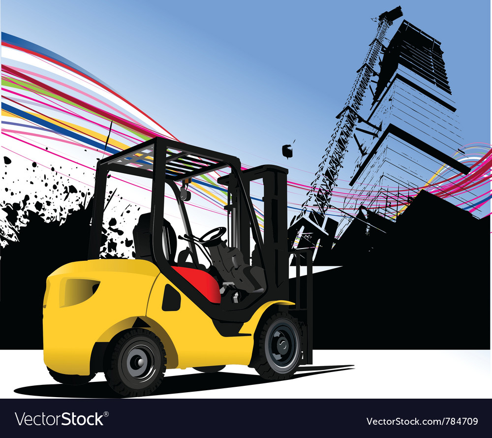 Fork lift urban vector | Price: 1 Credit (USD $1)