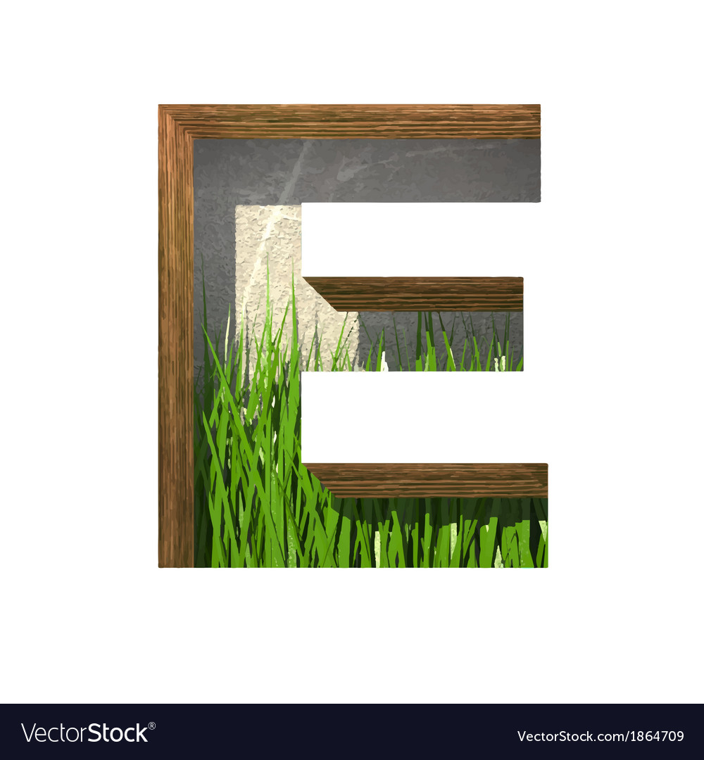 Grass cutted figure e paste to any background vector | Price: 1 Credit (USD $1)