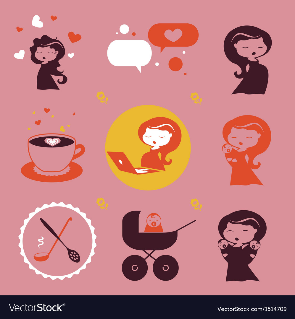 Maternity icons vector | Price: 3 Credit (USD $3)