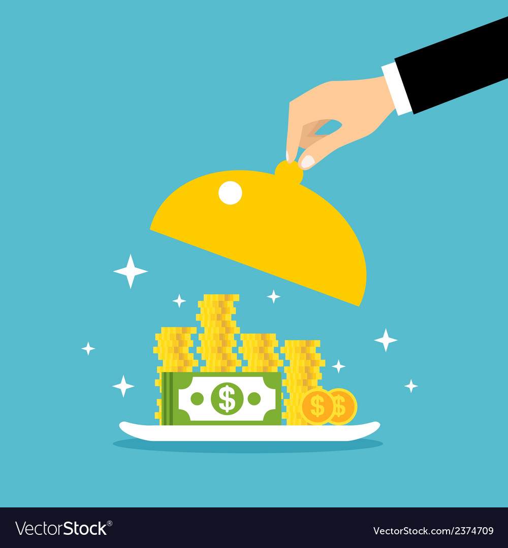 Money served concept vector | Price: 1 Credit (USD $1)