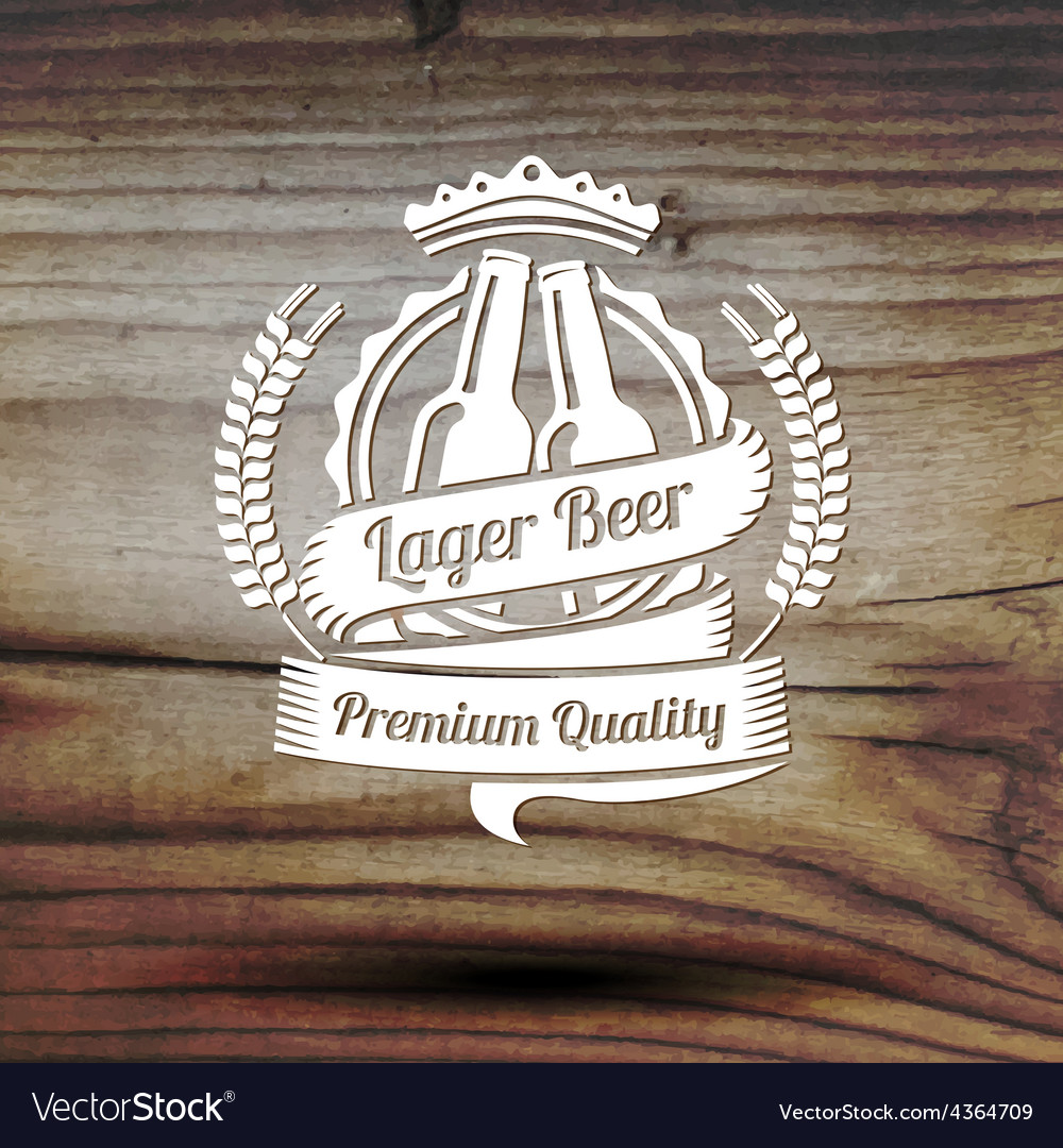 Old styled label for your beer business shop vector | Price: 1 Credit (USD $1)