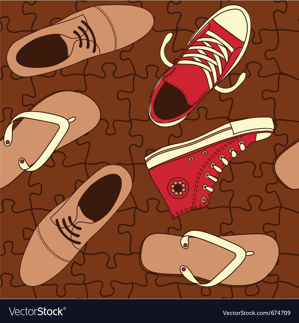 Shoe wallpaper vector | Price: 1 Credit (USD $1)