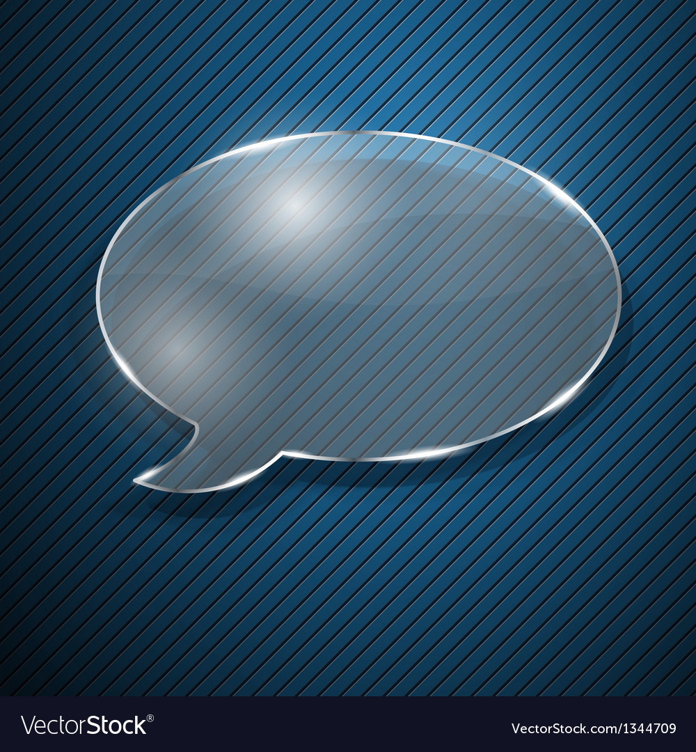 Speech bubble from glass vector | Price: 1 Credit (USD $1)