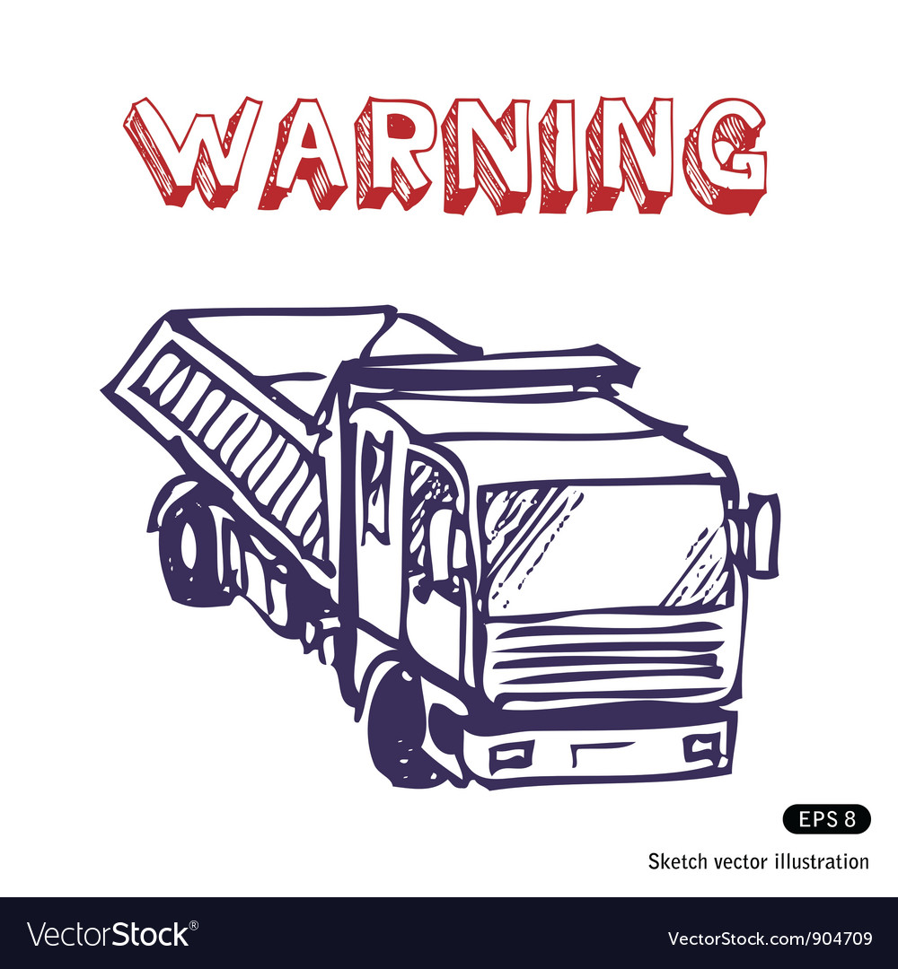 Truck is working vector | Price: 1 Credit (USD $1)