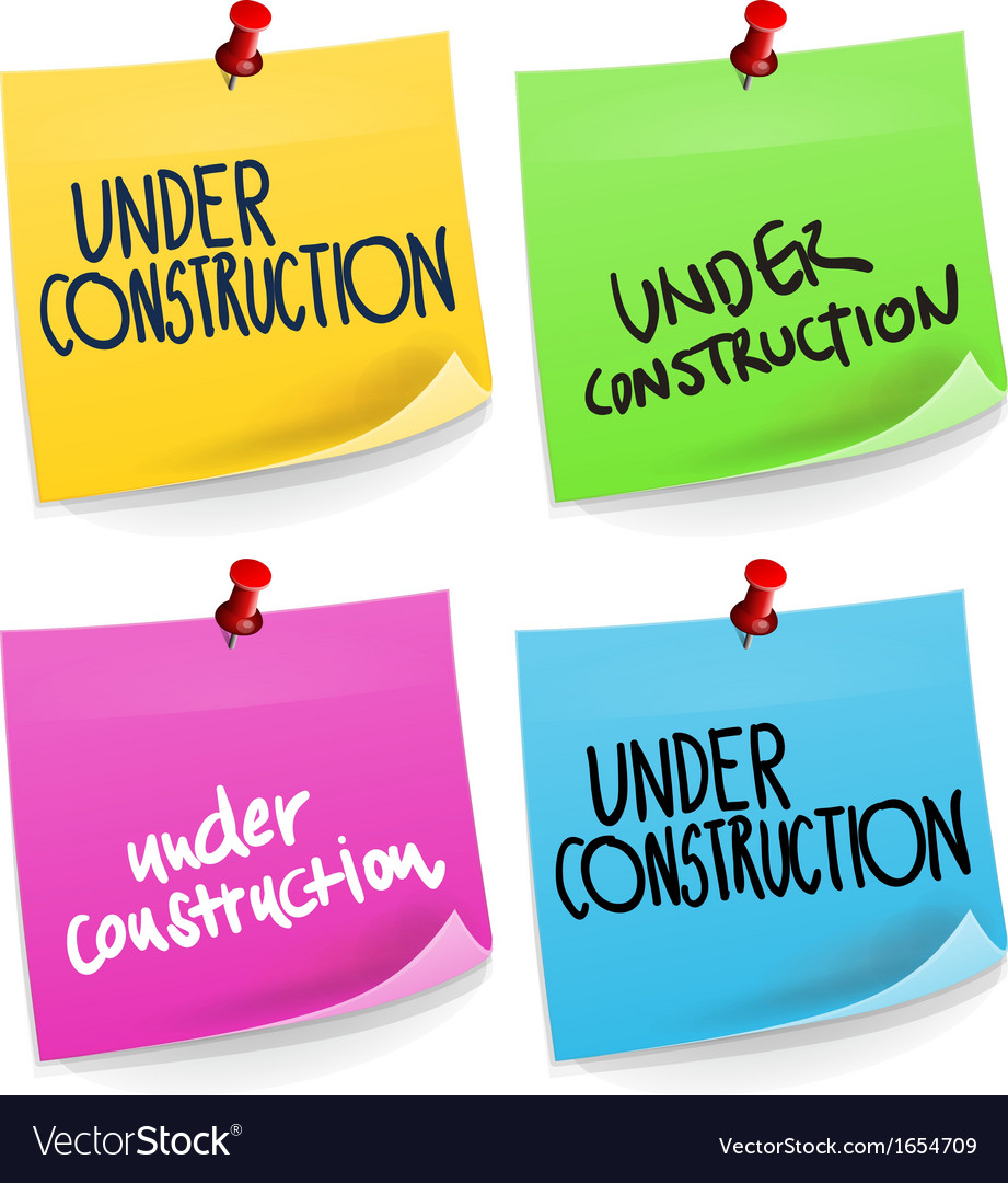 Under construction sticky note vector | Price: 1 Credit (USD $1)