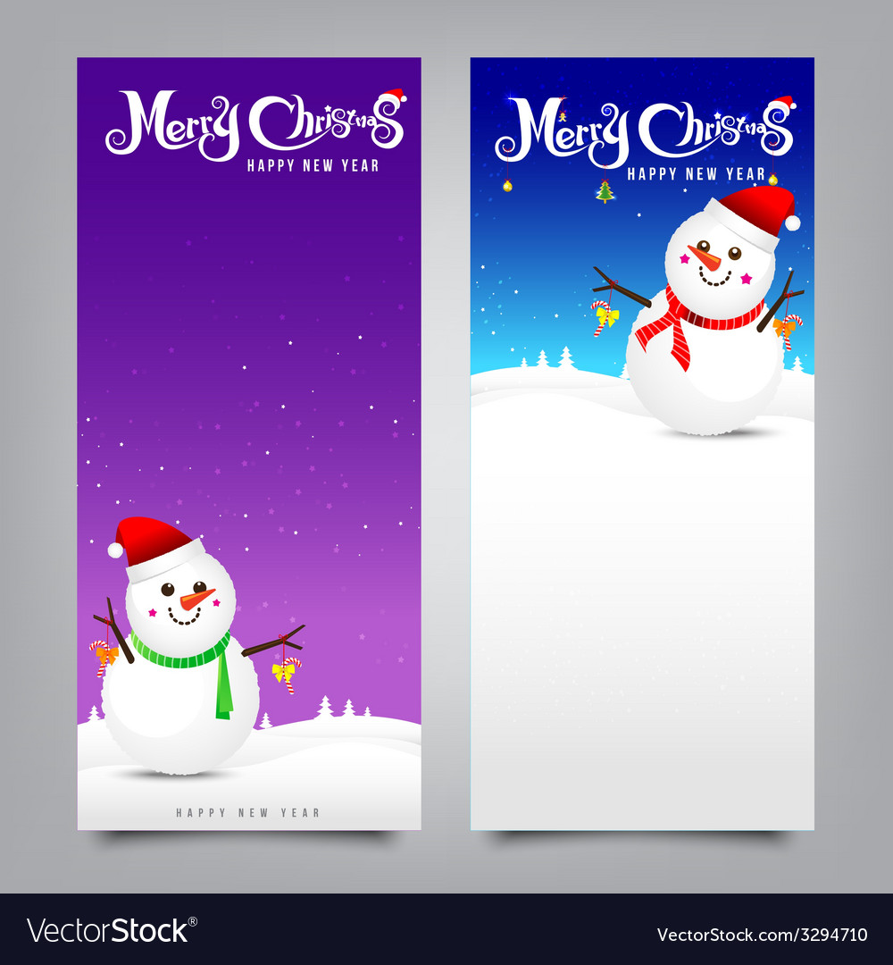 027 merry christmas banner collection of greeting vector | Price: 1 Credit (USD $1)