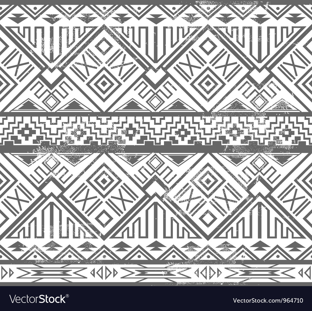 Abstract geometric seamless aztec pattern vector | Price: 1 Credit (USD $1)