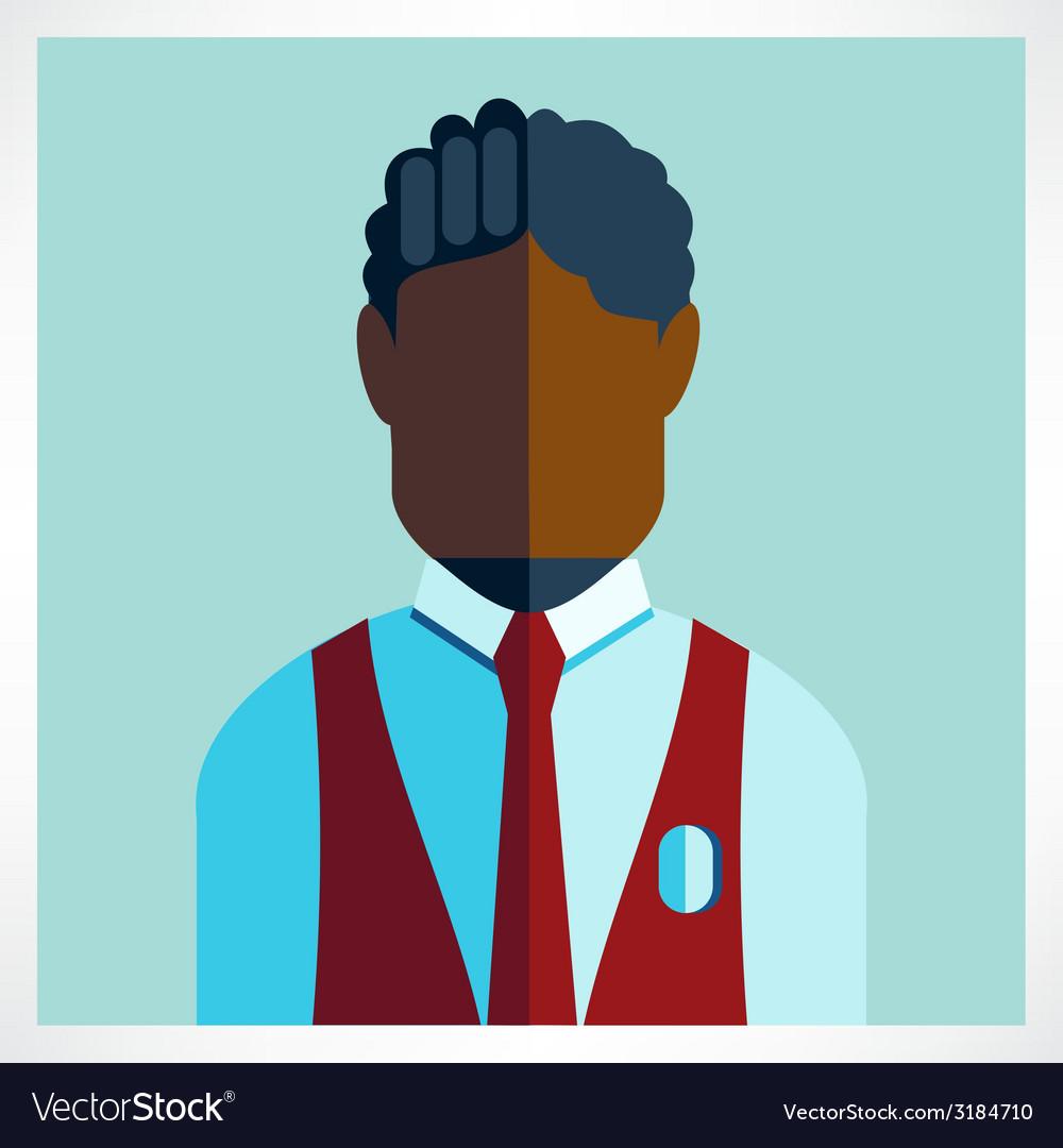 African schoolboy icon flat vector | Price: 1 Credit (USD $1)