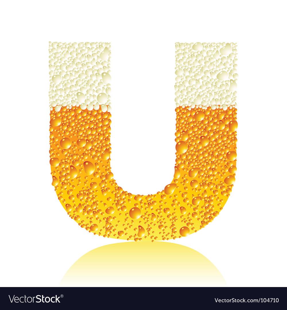 Alphabet beer u vector | Price: 1 Credit (USD $1)