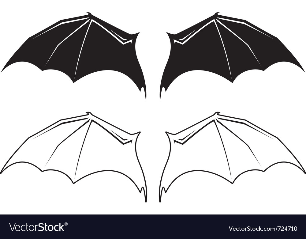 Bat wngs vector | Price: 1 Credit (USD $1)