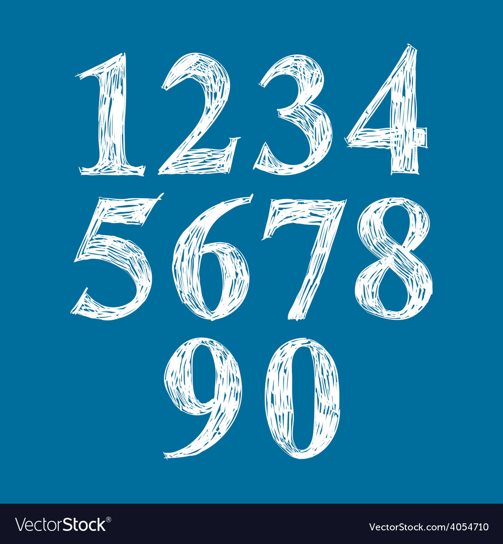 Calligraphic numbers numeration vector | Price: 1 Credit (USD $1)
