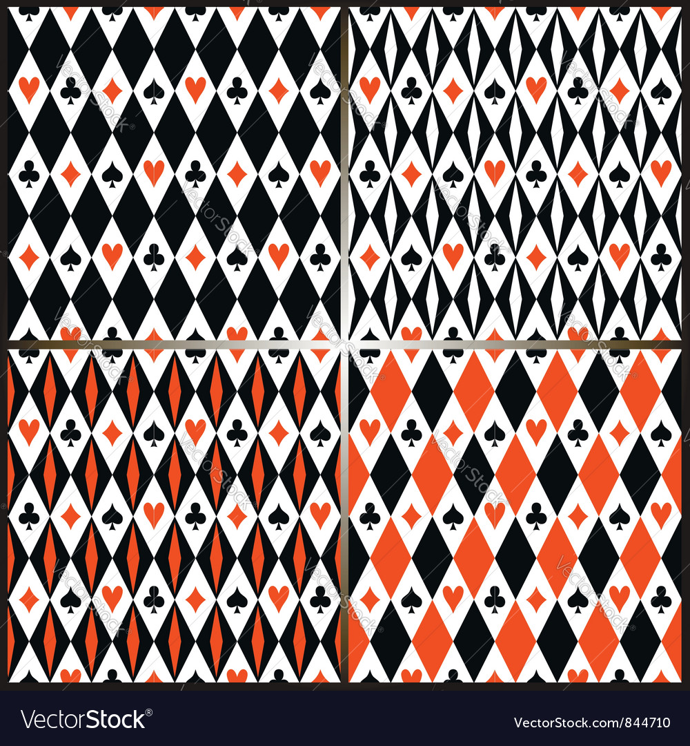Card suits seamless pattern vector | Price: 1 Credit (USD $1)