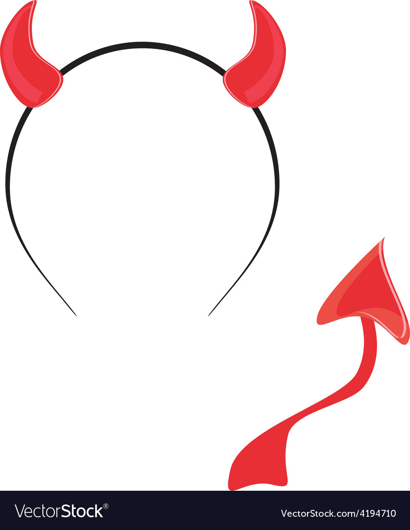 Devil tail and horn vector | Price: 1 Credit (USD $1)