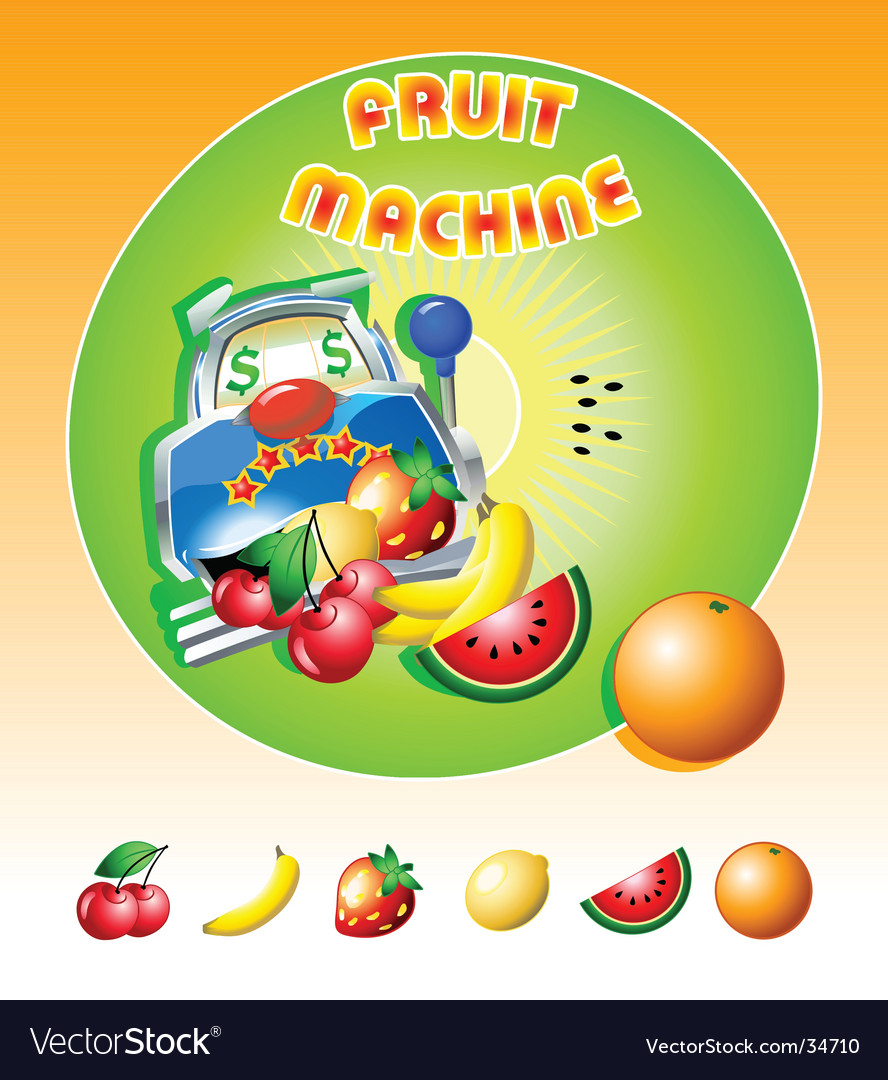 Fruit machine slot vector | Price: 3 Credit (USD $3)