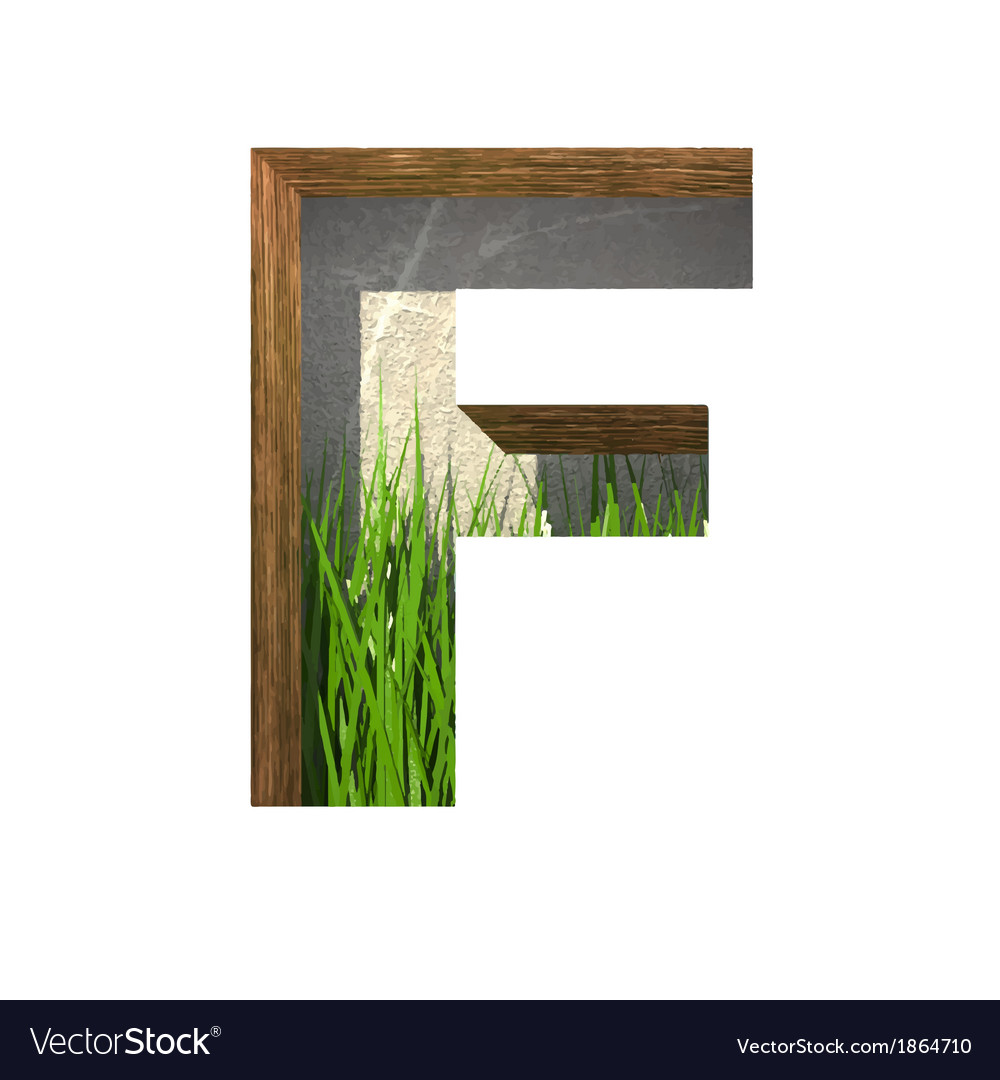 Grass cutted figure f paste to any background vector | Price: 1 Credit (USD $1)