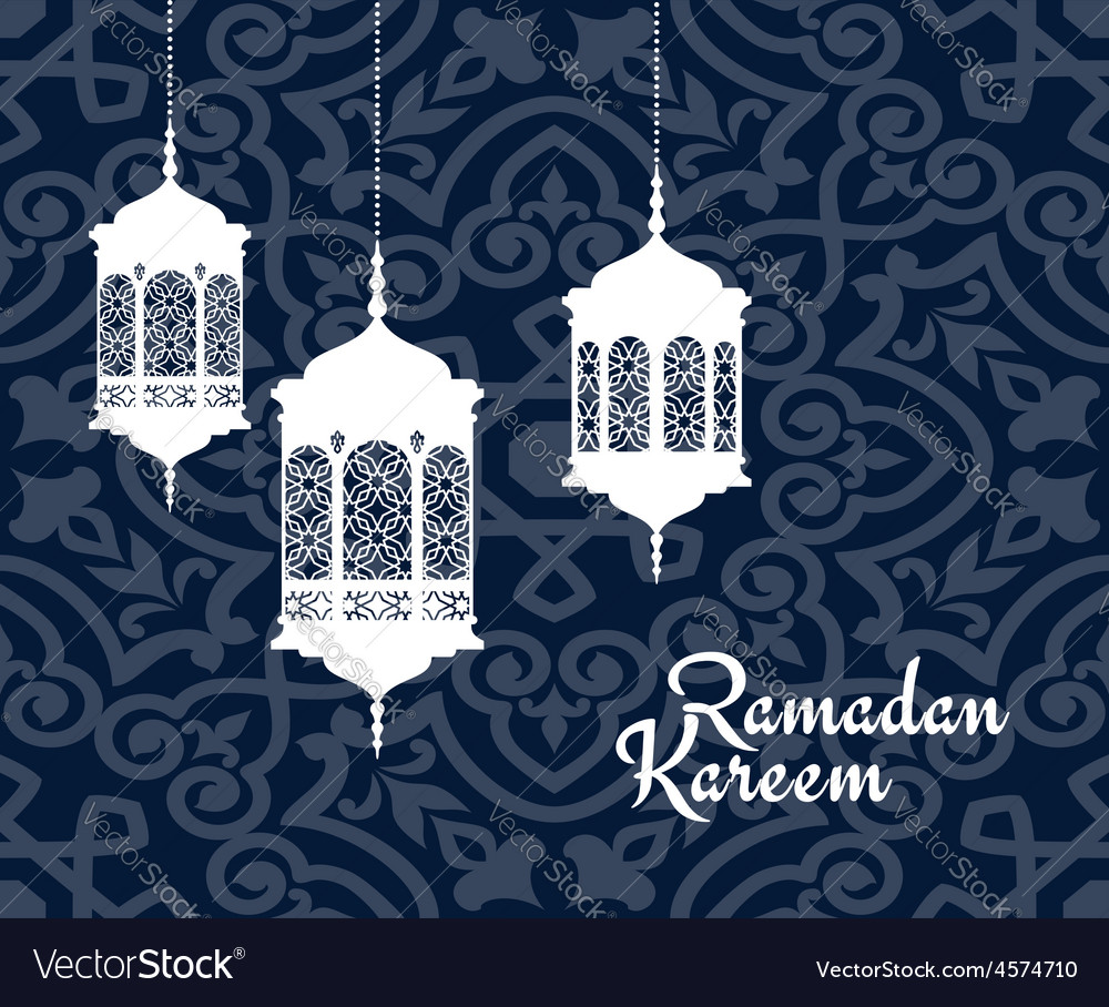 Hanging arabic lanterns for ramadan kareem holiday vector | Price: 1 Credit (USD $1)