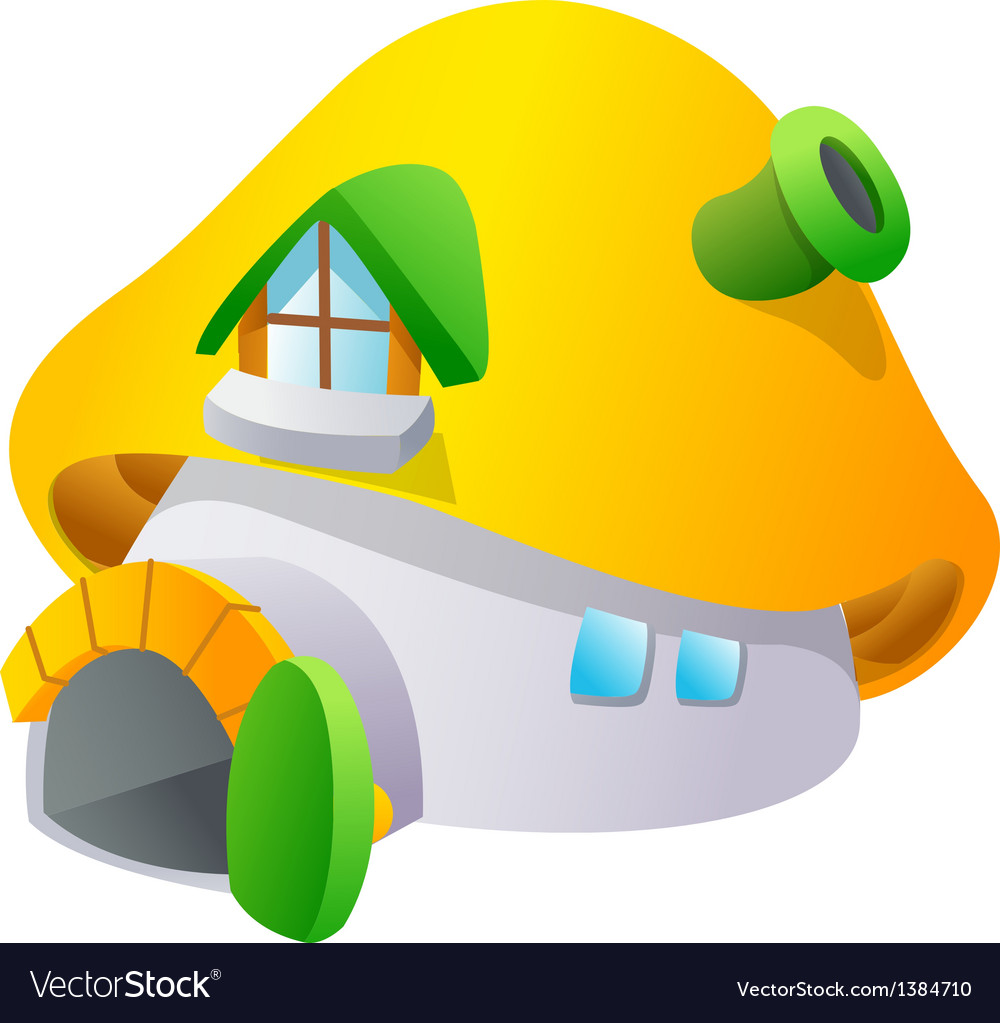 Icon mushroom and house vector | Price: 1 Credit (USD $1)