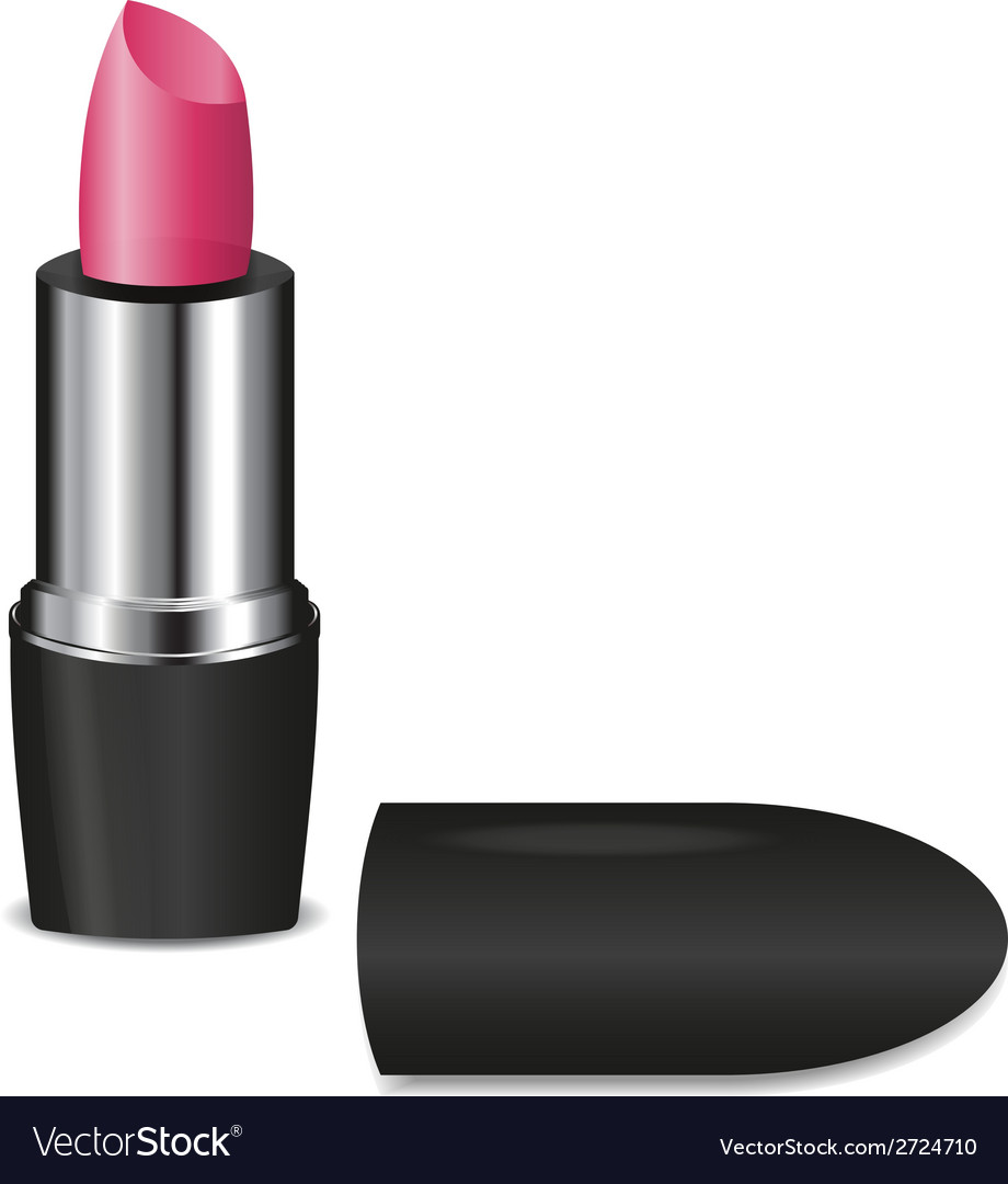 Open pink lipstick on white vector | Price: 1 Credit (USD $1)
