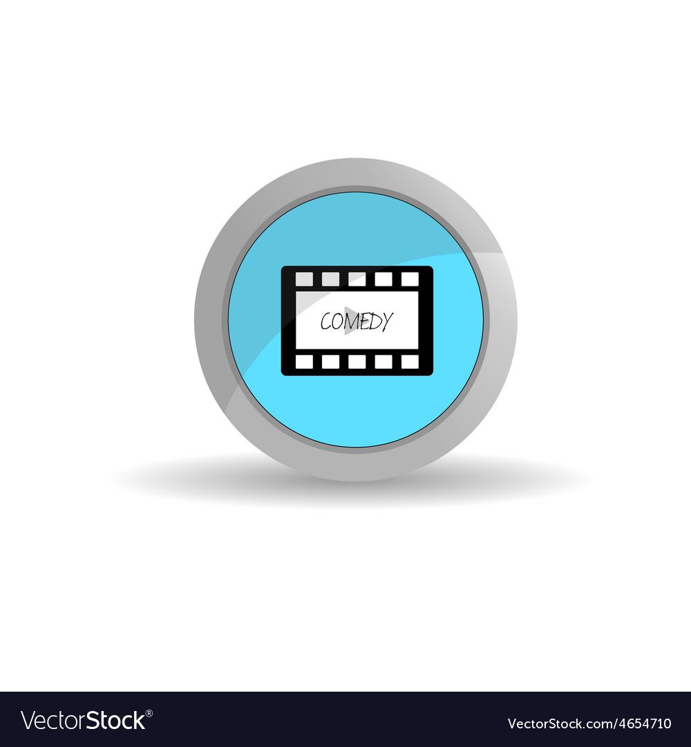 Sticker film tape comedy vector | Price: 1 Credit (USD $1)