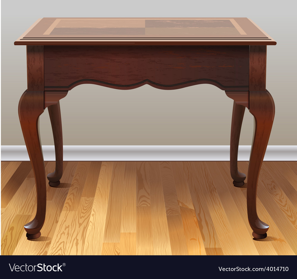 Wooden table in the house vector | Price: 1 Credit (USD $1)