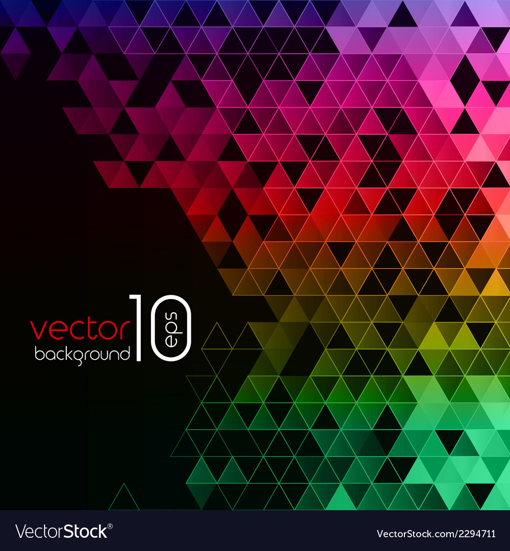 Abstract polygonal triangles poster vector | Price: 1 Credit (USD $1)