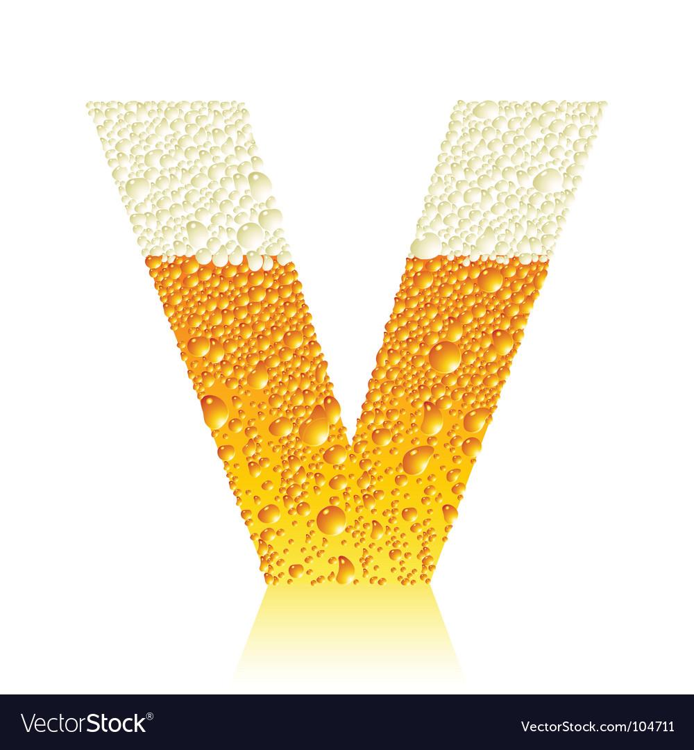 Alphabet beer v vector | Price: 1 Credit (USD $1)