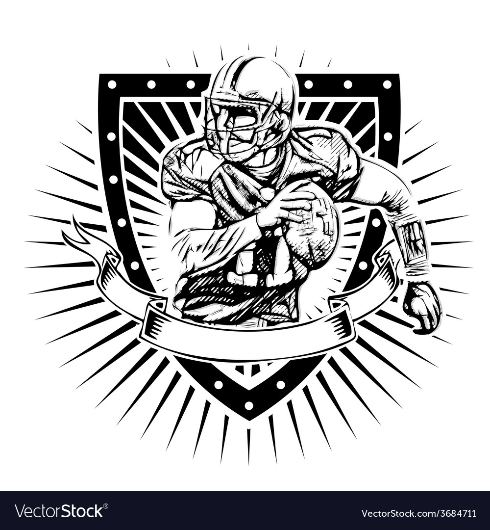 American football shield vector | Price: 3 Credit (USD $3)