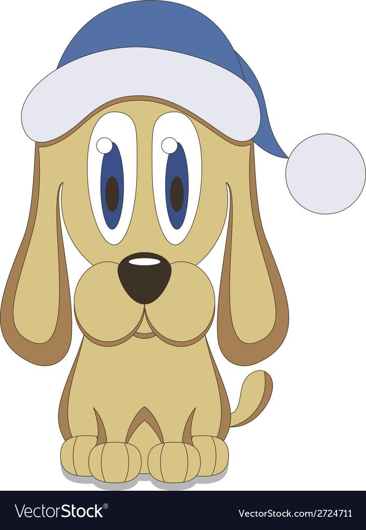Christmas dog vector   Price: 1 Credit (USD $1)