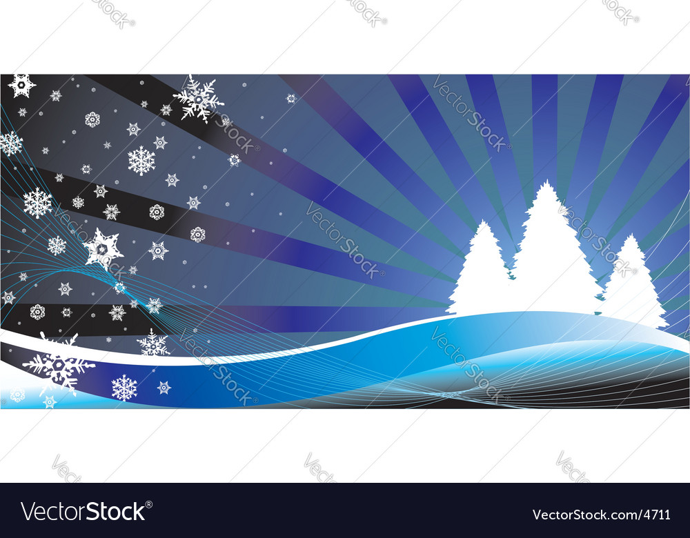 Christmas winter background vector | Price: 1 Credit (USD $1)