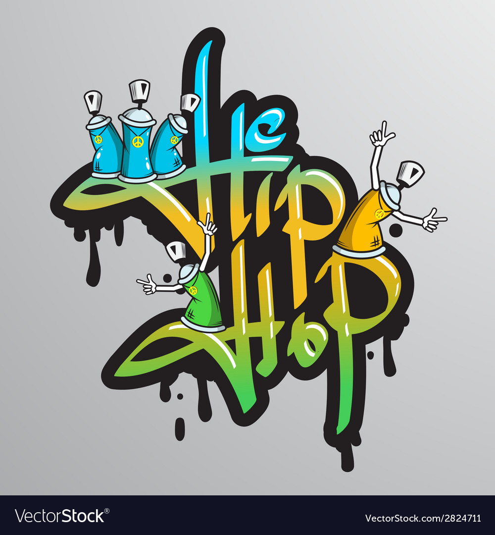 Graffiti word characters print vector | Price: 1 Credit (USD $1)